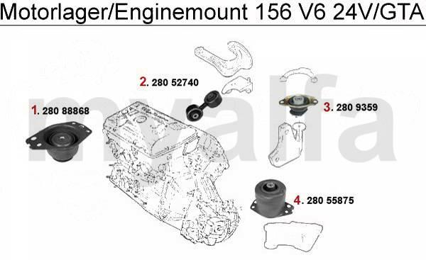 Alfa Romeo 156 supports moteur & pièces moteur & Alfa