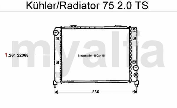 Alfa Romeo 75 pompe eau & Thermostat calorstat & radiateur