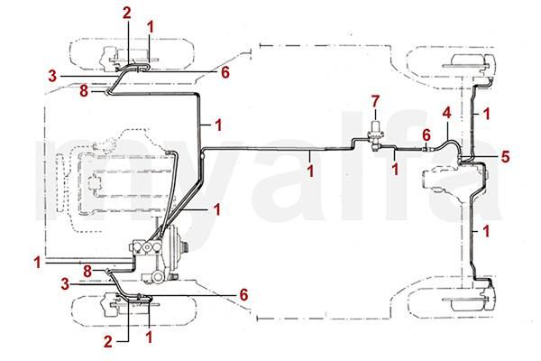 Alfa Romeo SPIDER (105/115) BRAKE HYDRAULIC BRAKE LINES/HOSES
