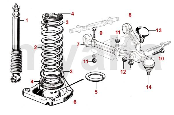 Alfa Romeo SPIDER (105/115) FRONT SPRINGS/SHOCKS