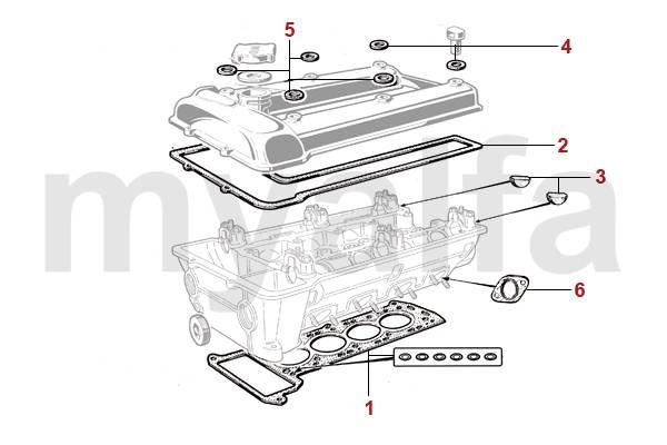 Alfa Romeo Spider (105/115) Joints moteur & pièces moteur