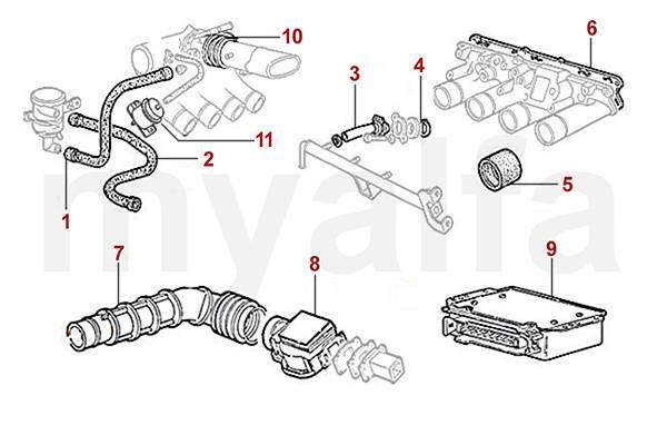 Alfa Romeo ALFA ROMEO SPIDER (105/115) INJECTION SYSTEM