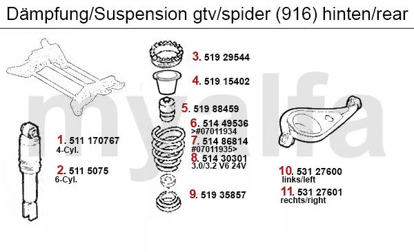 Alfa Romeo ALFA GTV/SPIDER (916) STRUT REAR