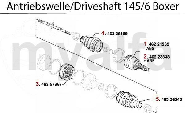 Alfa Romeo 145/6 arbres arbres 1.4/1.6/1.7/IE/16V