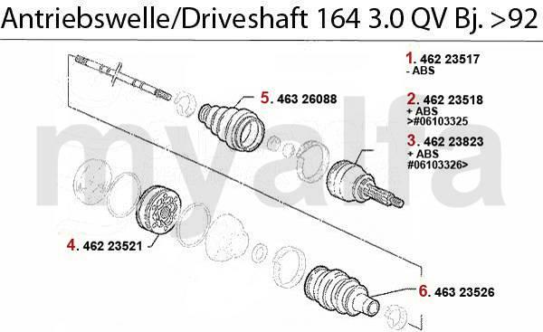 Alfa Romeo 164/Super arbres 3.0 V6 QV >92