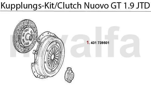 Alfa Romeo Nuovo GT Embrayage Kit embrayage 1.9 JTD