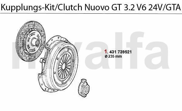 Alfa Romeo ALFA ROMEO NUOVO GT CLUTCH CLUTCH SET 3.2 V6
