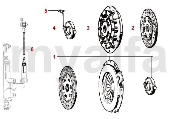 Alfa Romeo SPIDER (105/115) CLUTCH MECHANICAL