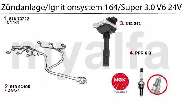 Alfa Romeo 164/Super electricité moteur & pièces moteur