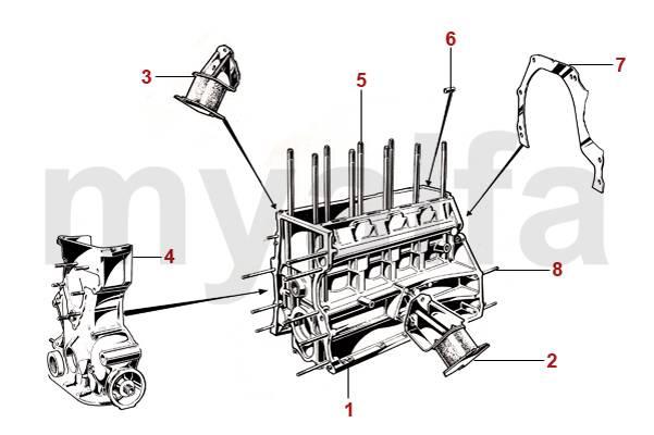 Alfa Romeo SPIDER (105/115) Engine, Engine Parts & Alfa