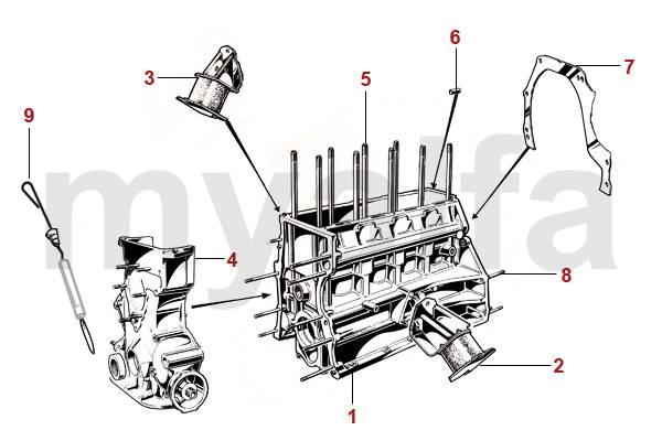 Alfa Romeo GT Bertone Bloc moteur & pièces moteur & Alfa