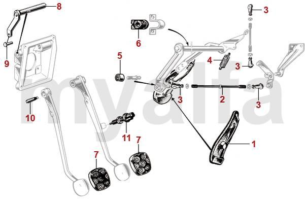 Alfa Romeo GIULIA Pedal Rubber, Accelerator Pedal
