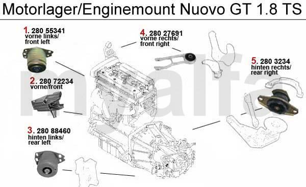 Alfa Romeo ALFA NUOVO GT Engine mount ENGINE MOUNT 1.8 TS
