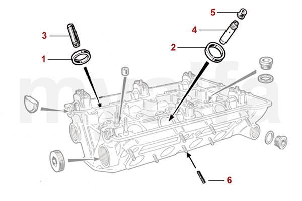 Alfa Romeo Spider (105/115) Culasse Culasse (guide