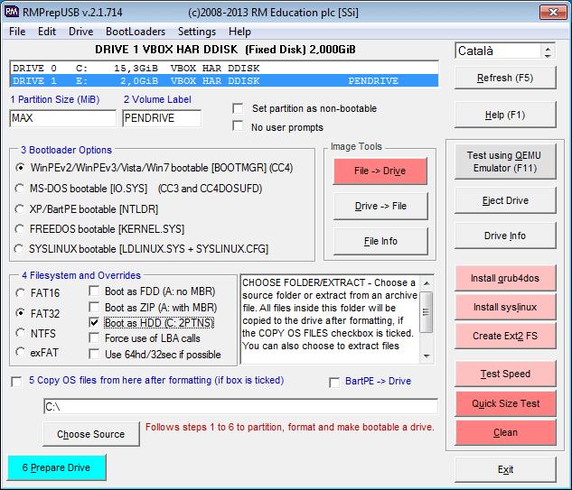 Hacer un usb multibooteable RMPrepUSB 1