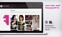 Alexia Castillo – Model Photography Free WordPress Theme