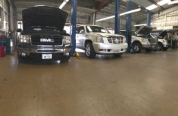 Cars at Victor's Service Center