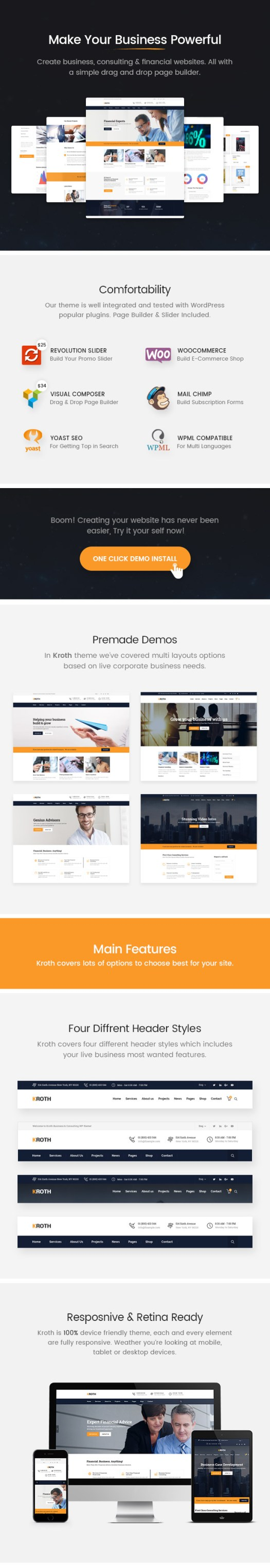 Kroth Theme Features