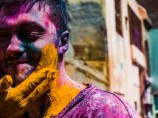 My friend Nicolas Coupet getting colored