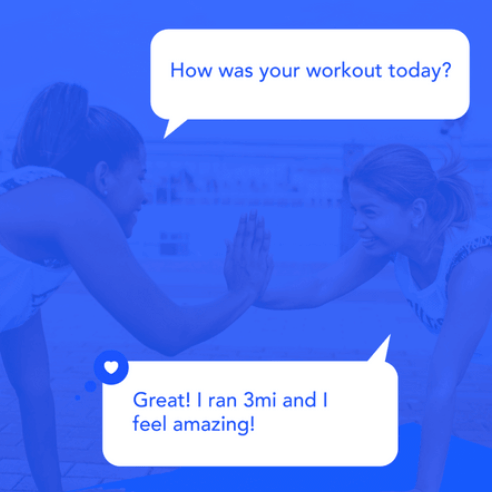 Screenshot from Verb coaching, how was your workout today