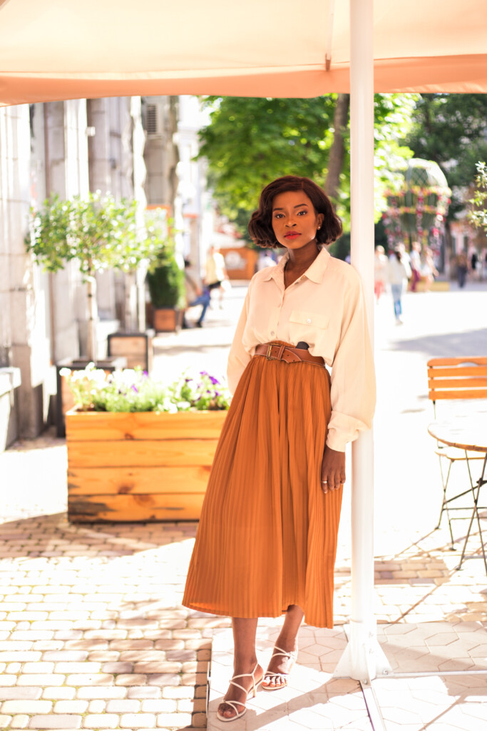 how to style big and long skirt