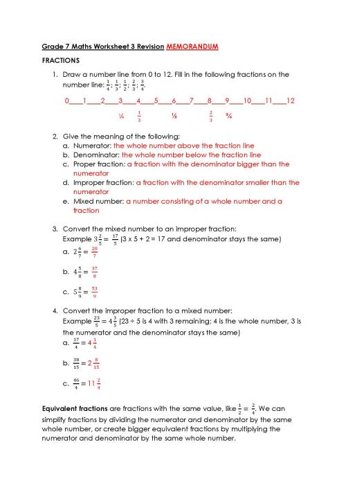 small resolution of Grade 7 Maths Worksheet – Victory House Senior Primary