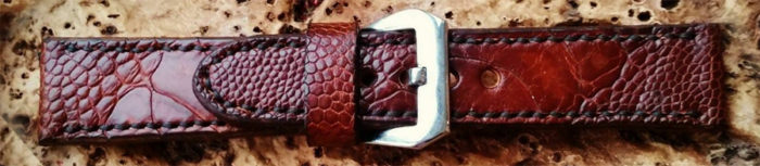 ostrich leather watch strap