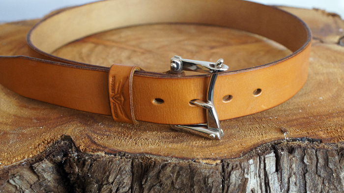 Firefighter Belt London Tan / Nickel