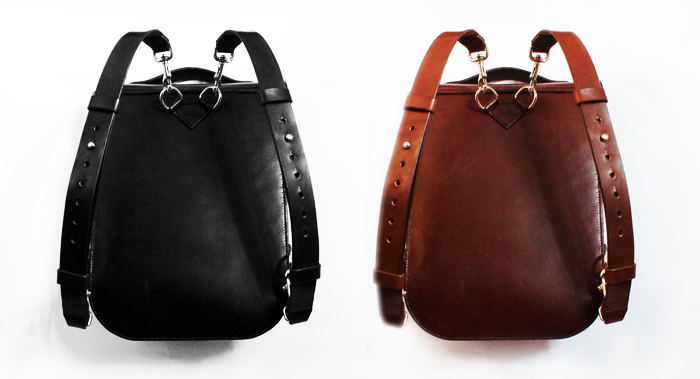 back view leatherback rucksacks