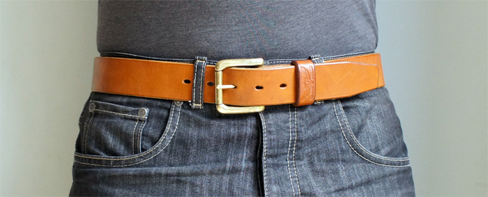 handmade leather belt