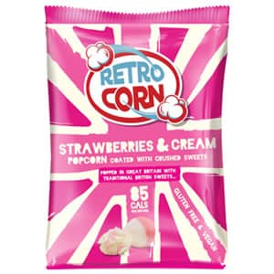 Bag of strawberries and cream popcorn