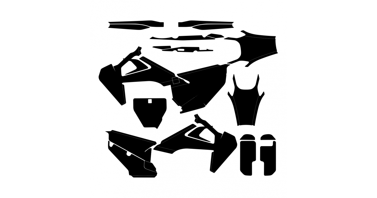 Husqvarna TC 125 250 FC 250 350 450 2019 Graphic Templates