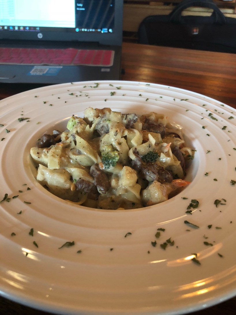 Beef pasta at Coffeebox