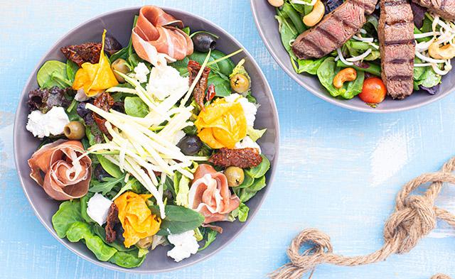 Avila Beach Hotel's Schooner lunch - salads