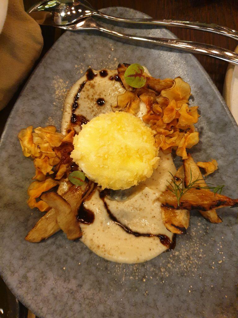 Jerusalem artichoke & egg <em>herbs</em>