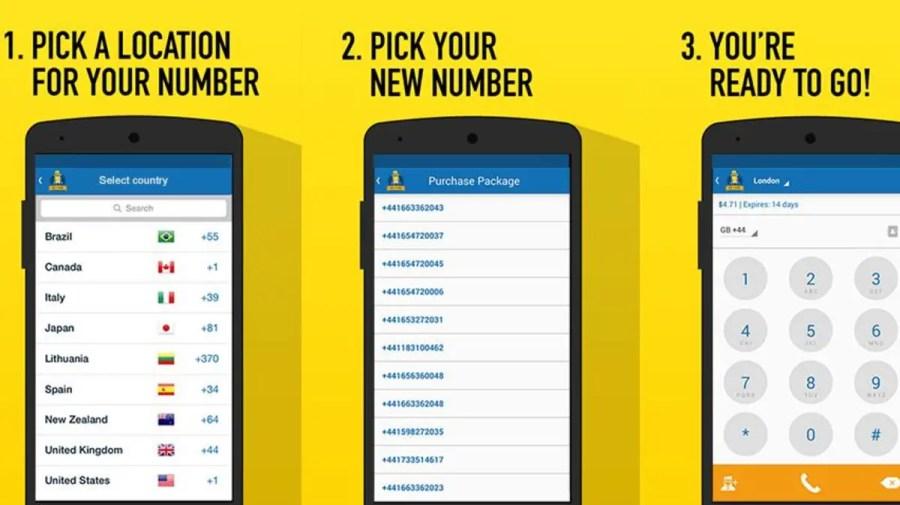 تطبيق للحصول على رقم مجاني من أي دولة في العالم