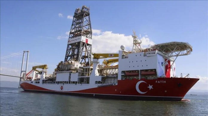 Turkish ship Al-Fateh, which carries out exploration missions in the Mediterranean