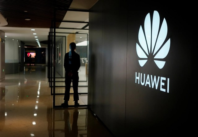 A Huawei company logo is seen at a shopping mall in Shanghai, China June 3, 2019. (Reuters)