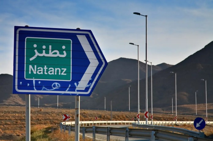 The road to the Iranian nuclear site of Natanz