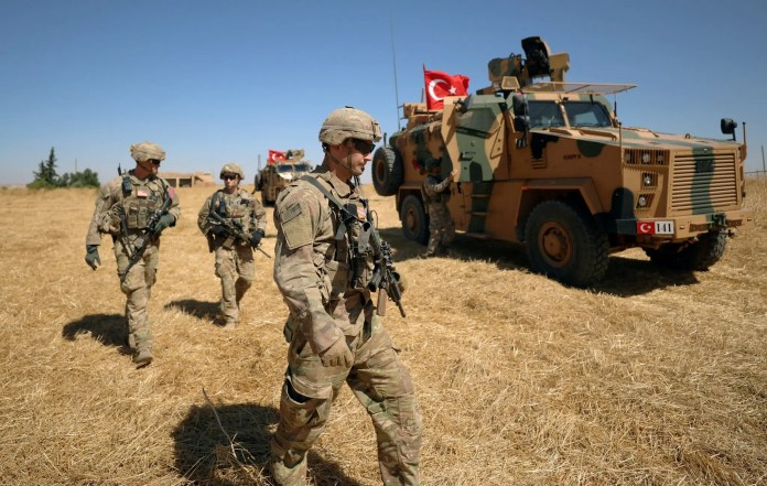 America's soldiers during the joint US-Turkish patrols in Syria