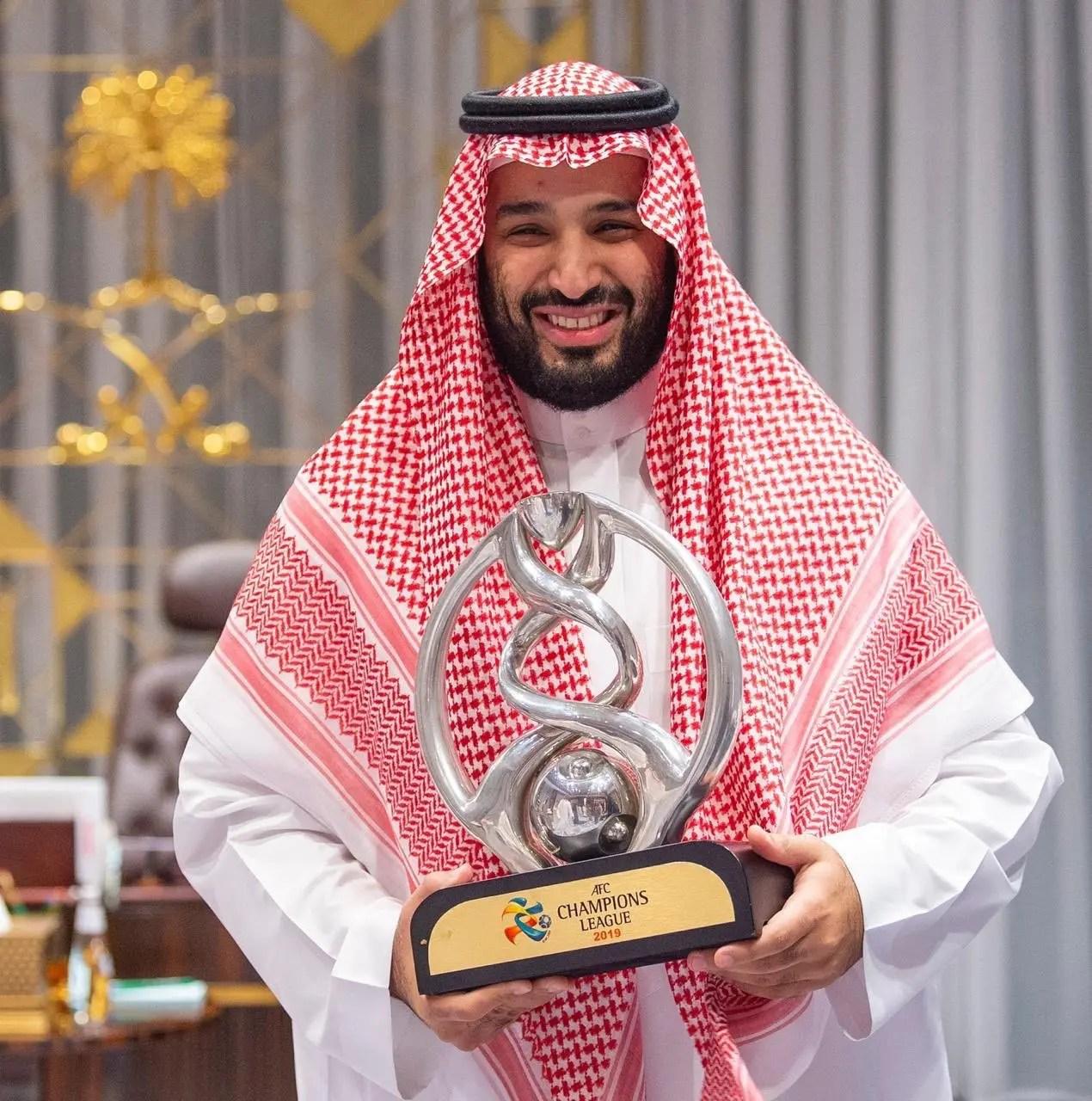 محمد بن سلمان يستقبل الهلال لتتويجه بطل آسيا