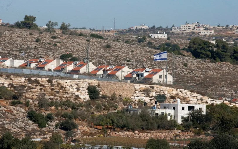 The Israeli settlement of Kyryat Arba in pictured in the occupied West Bank near the Palestinian town of Hebron on November 19, 2019. (AFP)