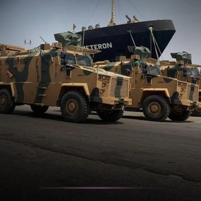 Turkish armor with fist Libyan army