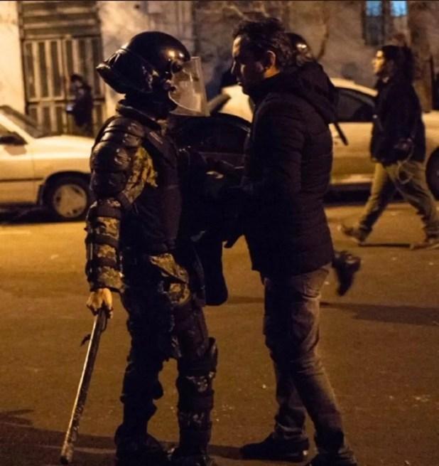احتجاجات في إيران في يناير الماضي