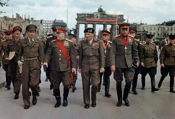 Marshal Zhukov in Berlin after the end of the Nazis