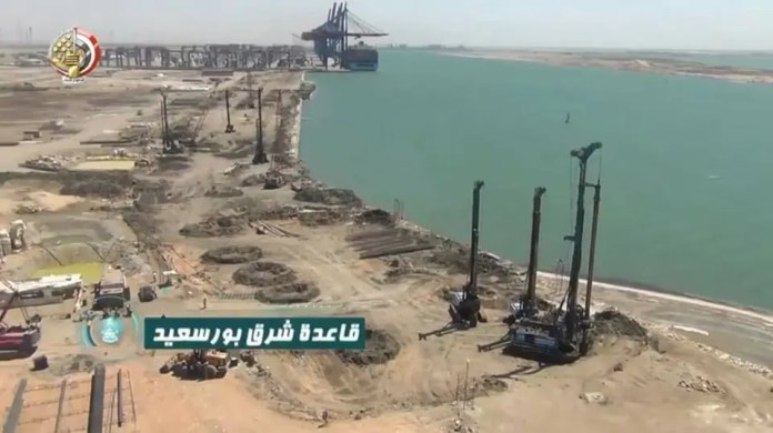Construction continues at East Port Said Naval Base