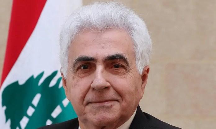 Lebanese Foreign Minister Nassif even