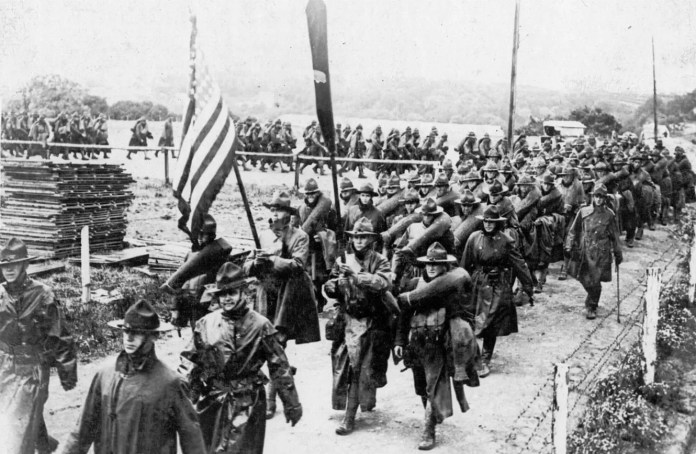 A picture of American soldiers in World War I