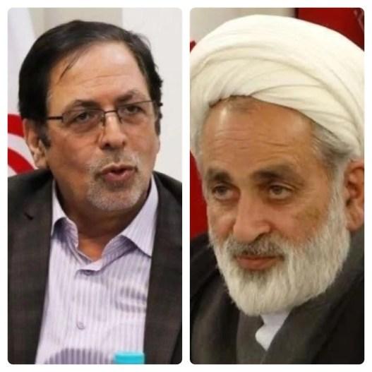 Iranian lawmakers Heidarali Abedi, left, and Ahmad Salek, right. (Twitter)