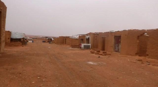 An image of Rukban Camp on the Syria-Jordan border. (Supplied: Mouaz Moustafa)